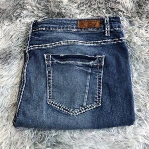 Denver Hayes Mia Mid Rise Slim Straight Jeans